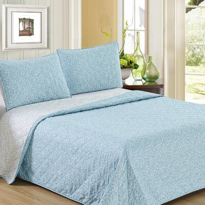 Ron Chereskin Reversible Quilt Set Size: Full/Queen, Color: Light Turq