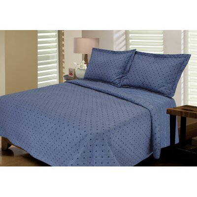 Tri-Diamond Reversible Quilt Set Size: Twin / Twin XL, Color: Slate Blue