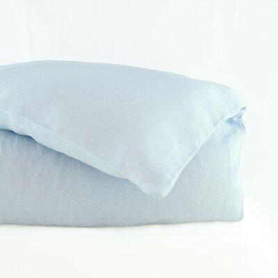 Belgian Duvet Cover Size: King, Color: Light Grey Blue