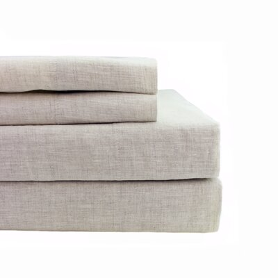 Belgian Linen Sheet Set Size: Queen, Color: Natural
