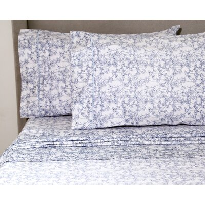 Teitelbaum Wildflower 400 Thread Count 100% Cotton Sheet Set Size: Queen