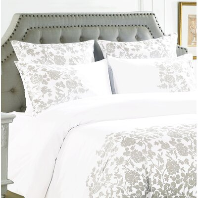 Kirkbride Rose Embroidered Sham Color: Gray
