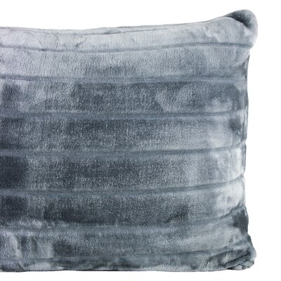 Laureano Velvet Stripe Sham Color: Charcoal
