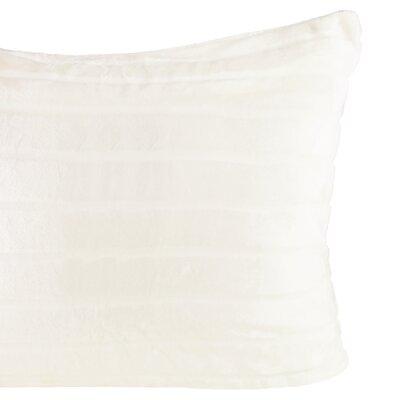 Laureano Velvet Stripe Sham Color: Ivory