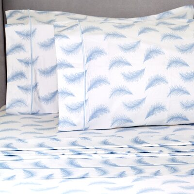 Paiva Floating Feather 400 Thread Count Pillowcase