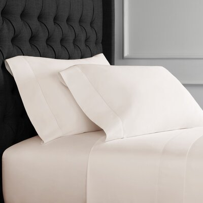 Hemstitch Pillowcase Size: King, Color: Ivory