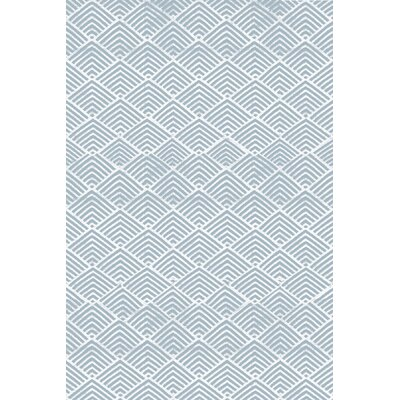 Cleo Blue & White Graphic Indoor/Outdoor Area Rug Rug Size: 5 x 8