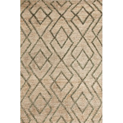 Marco Moss Cut-pile Cream Area Rug Rug Size: Rectangle 10 x 14