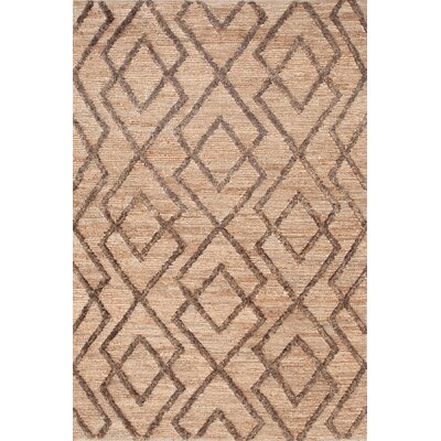 Marco Oak Cut-pile Brown Area Rug Rug Size: 5 x 8