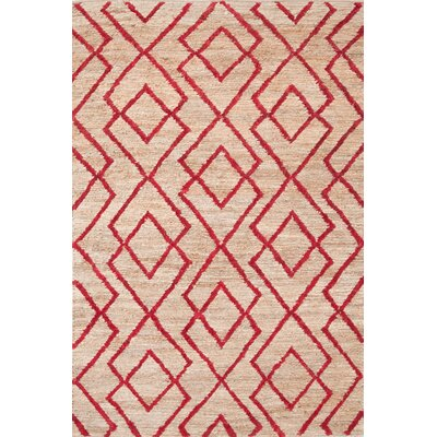 Marco Red Cut-pile Red Area Rug Rug Size: 2 x 3