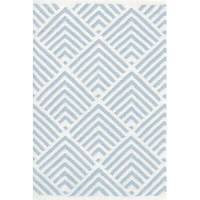 Cleo Blue & White Graphic Indoor/Outdoor Area Rug Rug Size: 3 x 5