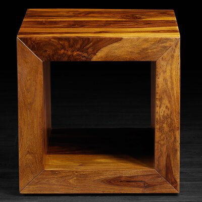 SumSum Cube Side Table Finish: Light Brown