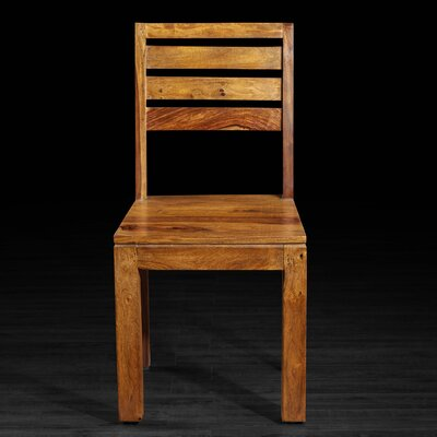 Basant Solid Wood Dining Chair Finish: Light Brown