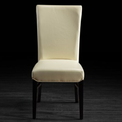 Bella Genuine Leather Upholstered Dining Chair Upholstery: Vanilla