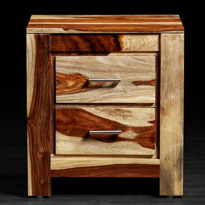 Artemano Romy 2 Drawer Nightstand - Finish: Natural