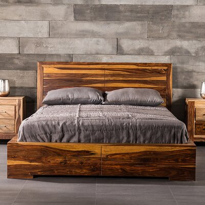 Romy Platform Bed Size: Queen, Finish: Light Brown