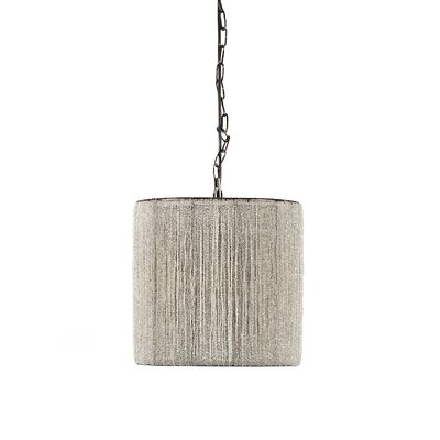 1-Light Cylindrical Lamp Drum Pendant