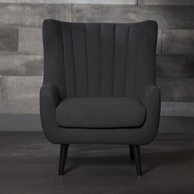 Pure Fabric Arm Chair Color: Black