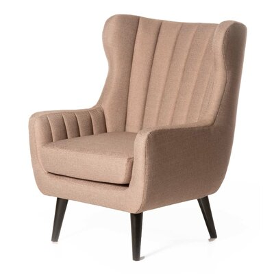 Pure Fabric Armchair Color: Pink Beige
