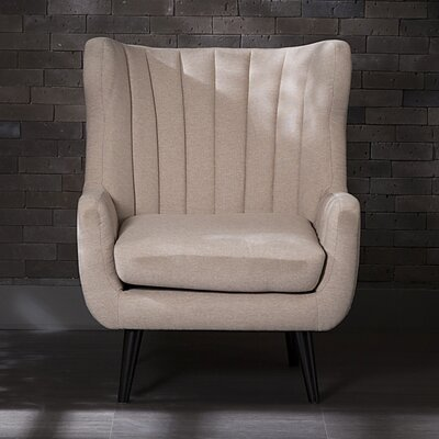 Pure Fabric Armchair Color: Sand