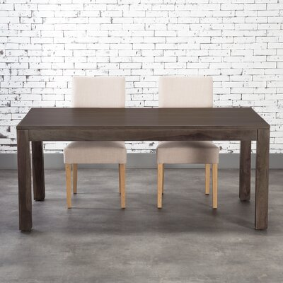 Romy Dining Table Size: 30 H x 36 W x 70 L, Finish: Light Olive