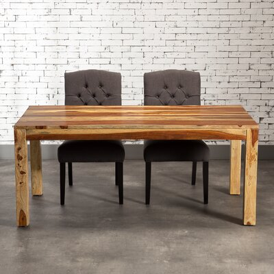 Romy Dining Table Finish: Natural Rosewood, Size: 30 H x 44 W x 94 L