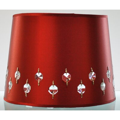 12 Fabric Drum Lamp Shade (Set of 2) Color: Merlot