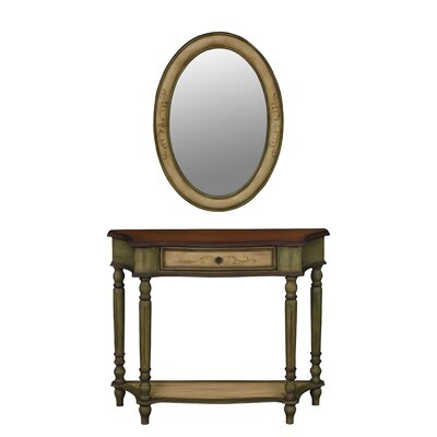 Veneto Console Table and Mirror Set