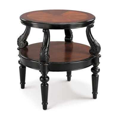 Cheap Stein World Round Accent Table in Aged Black (SM2018)