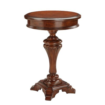 Cheap Stein World Round Accent Table with Carving (SM2069)