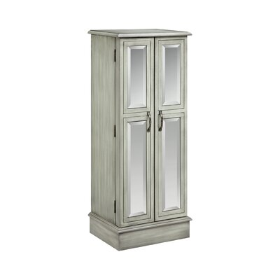 Backsten Jewelry Armoire with Mirror Finish: Slate Gray