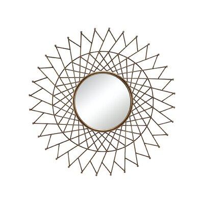 Brayden Studio Overlapping Triangular Metal Accent Wall Mirror