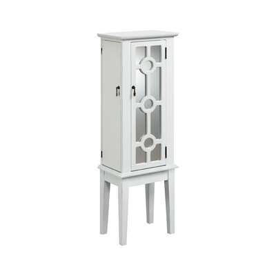 Mayer Jewelry Armoire with Mirror Finish: White