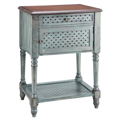 No credit check financing Painted Treasures End Table...