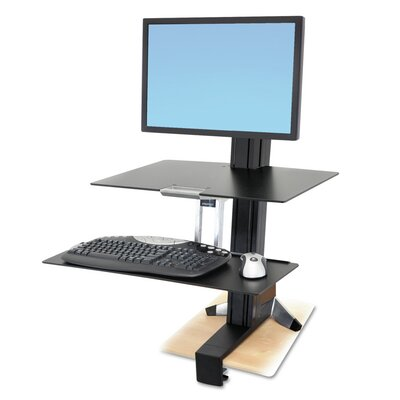 WorkFit-S Sit-Stand Height Adjustable Workstation/Cart