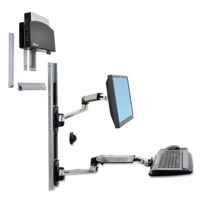LX System for CPU Height Adjustable Wall Mount
