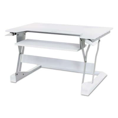 20 H x 35 W Standing Desk Conversion Unit Finish: White