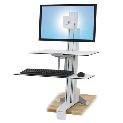 35 H x 30.25 W Metal Standing Desk Conversion Unit