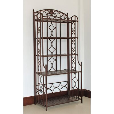 Charleston 5-Tier Indoor/ Outdoor Bakers Rack Finish: Bronze