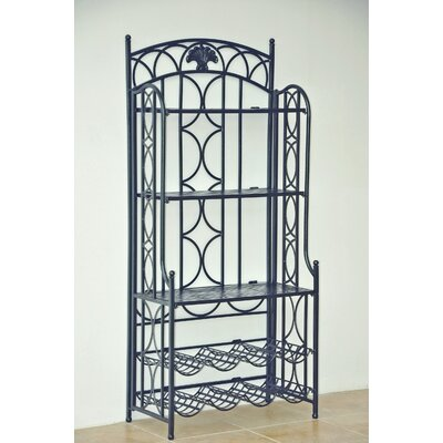 Charleston 5-Tier Iron IndoorOutdoor Bakers Rack Finish: Pewter