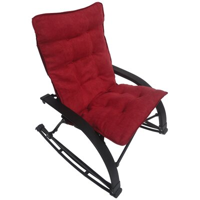 Wembley Rocking Chair with Cushion Upholstery: Cardinal Red