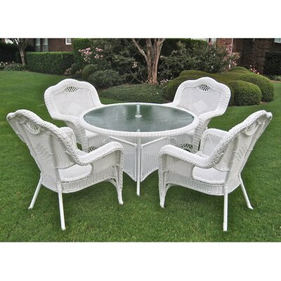 Riviera Wicker Resinaluminum Patio Game Group Set picture