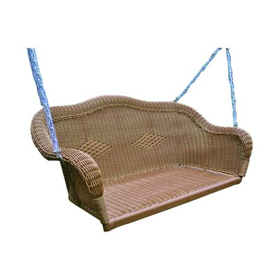 International Caravan Chelsea 2 Seater Hanging Porch Swing with Chain - Finish: Mocha