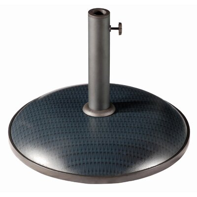 Castile Resin Free-Standing Umbrella Base Finish: Slate Wicker