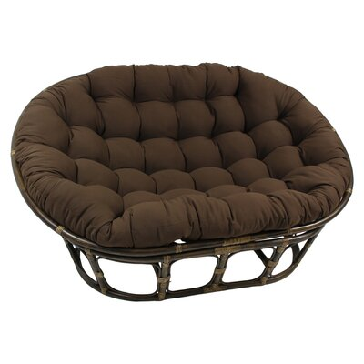 Double Papasan Chair  Upholstery: Black
