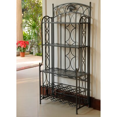 Charleston 5-Tier Iron Indoor/Outdoor Bakers Rack Finish: Antique Black