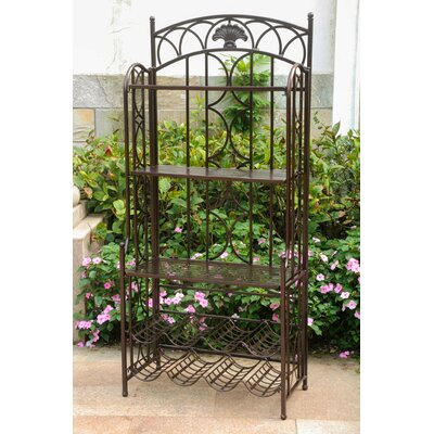 Charleston 5-Tier Iron Indoo/rOutdoor Bakers Rack Finish: Bronze