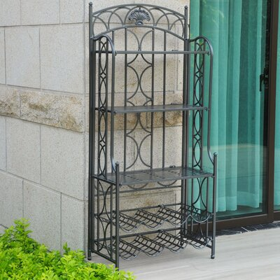 Charleston 5-Tier Iron Indoor/Outdoor Bakers Rack Finish: Pewter