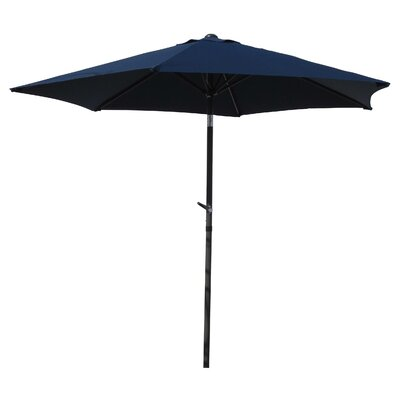 8 St. Kitts Umbrella Stands Market Umbrella Fabric: Navy