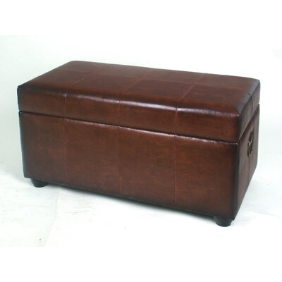 International Caravan Leather Bedroom Storage Ottoman - Color: Brown at Sears.com